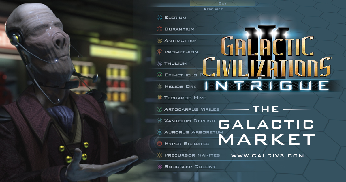 Intrigue Journal #3: The Galactic Market